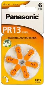 Батарейки Panasonic PR-13 BLI, 6 шт (PR-13/6LB)