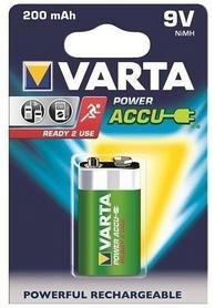 Акумуляторы Varta Rechargeale Accu 6F22 9V 200 mAh Bli 1 Ni-Mh (Ready 2 Use) (56722101401)