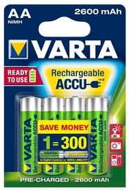 Аккумуляторы Varta Rechargeale Accu AA 2600 mAh Bli 4 Ni-Mh (Ready 2 Use) (05716101404)
