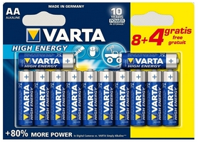 Батарейки Varta High Energy AA Bli 12 (8+4) Alkaline (04906121472)