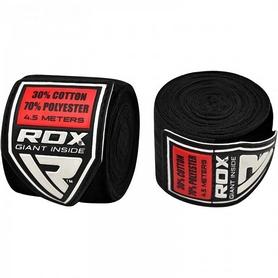 Бинт боксерский RDX Fibra Black (4,5 м, 2 шт)