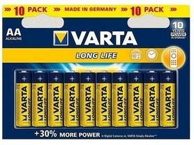 Батарейки Varta Longlife AA Bli 10 Alkaline (04106101461)
