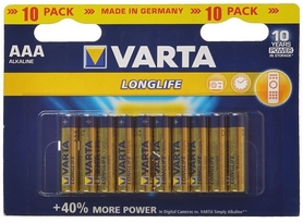 Батарейки Varta Longlife AAA Bli 10 Alkaline (04103101461)