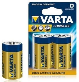 Батарейки Varta Longlife D Bli 2 Alkaline (04120101412)