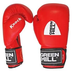 Перчатки боксерские с печатью ФБУ Green Hill Knock, красные (KBK-2105)