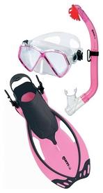 Набор для плавания детский Mares Allegra Pirate (маска, трубка, ласты), розовый, (410773/PK)