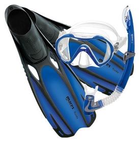 Набор для плавания Mares Fluida Vento (маска, трубка, ласты), синий (410789/BL)