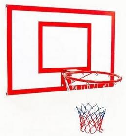 Щит баскетбольный металлический с кольцом и сеткой Newt Jordan, 1800х1050 мм (NE-MBAS-4-450G)
