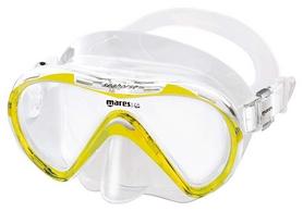Маска для плавания детская Mares Seahorse, желтая (411241/YL.CL)