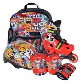 Коньки роликовые раздвижные + шлем и защита Tempish Monster Baby Skate (1000000005)
