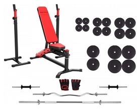 Набор силовой Marbo Sport MS10 (скамья со стойкой + штанга наборная), 172 кг (2386)