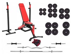 Набор силовой Marbo Sport MS1 (скамья со стойкой + штанга наборная), 168 кг (2390)