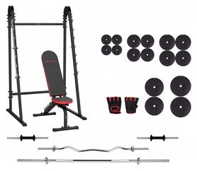 Набор силовой Marbo Sport MH8 (скамья со стойкой + штанга наборная), 147 кг (2371)