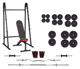 Набор силовой Marbo Sport MH8 (скамья со стойкой + штанга наборная), 177 кг (2384)