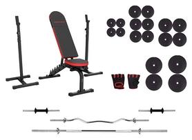 Набор силовой Marbo Sport MH7 (скамья со стойкой + штанга наборная), 136 кг (2366)