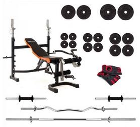 Набор силовой Fit On Iron Body 7828 (скамья со стойкой + приставка Скотта + штанга наборная до 105 кг), 140 кг (HS-002239)