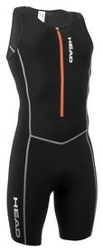 Костюм стартовый для триатлона мужской Head w./front zip, черный (452370.b)