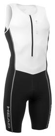 Костюм стартовый для триатлона мужской Head w./front zip, чорно-белый (452370.bkwh)