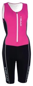 Костюм стартовый для триатлона мужской Head w./frontzip, черно-розовый (452371.bkf)