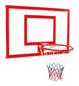 Щит баскетбольный металлический с кольцом и сеткой Newt Jordan, 1000х670 мм (NE-MBAS-2-400G)