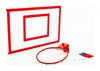 Щит баскетбольный металлический с кольцом и сеткой Newt Jordan, 1200х900 мм (NE-MBAS-3-450G) - Фото №2