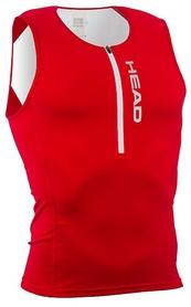 Майка для триатлона мужская Head w/zip - красная (452460.rdwh)