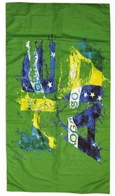 Полотенце из микрофибры Head Swimming Sport Microfiber - цвета флага Бразилии,75х150 см (455066.BRA)