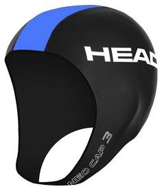 Шапка для триатлона неопреновая Head Neo Cap - черно-голубая (455116 TQ)
