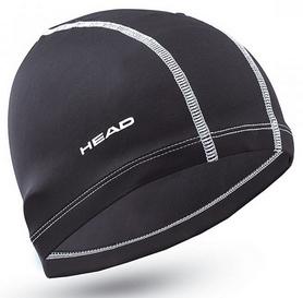 Шапочка для плавания детская Head Polyester Jr Cap, черная (455125.BK)