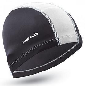 Шапочка для плавания детская Head Polyester Jr Cap, черно-белая (455125.BKWH)