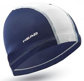 Шапочка для плавания детская Head Polyester Jr Cap, сине-белая (455125.NVWH)