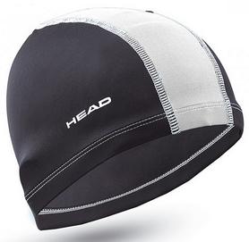 Шапочка для плавания детская Head Polyester Jr Cap, черно-белая (455125.RDWH)