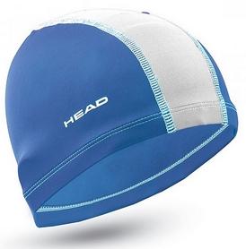 Шапочка для плавания детская Head Polyester Jr Cap, голубо-белая (455125.RYWH)