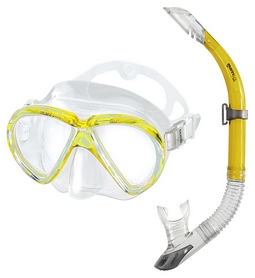 Набор для дайвинга детский (маска+трубка) Mares Marea, желтый (411720/YL)