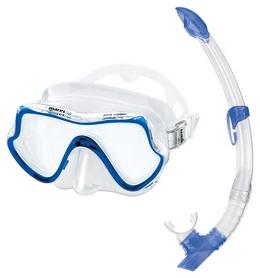 Набор для дайвинга (маска+трубка)Mares Pure Vision, синий (411736/CL.BL)
