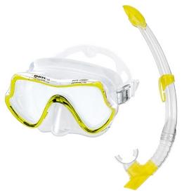 Набор для дайвинга (маска+трубка)Mares Pure Vision, желтый (411736/CL.YL)