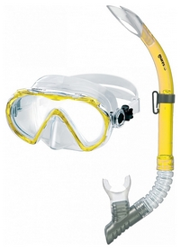 Набор для дайвинга (маска+трубка) Mares Alize, желтый (411742/YL)