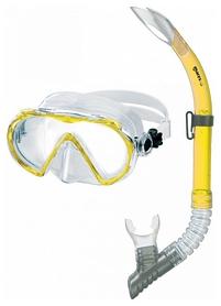 Набор для дайвинга (маска+трубка) Mares Wahoo, желтый (411745.SFRYLCL)