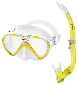 Набор для дайвинга детский (маска+трубка) Mares Seahorse, желтый (411749/YL.CL)