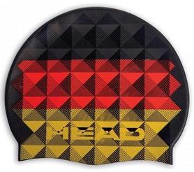 Шапочка для плавания Head Flag Suede Germany, черно-красно-желтая (455288.GER)