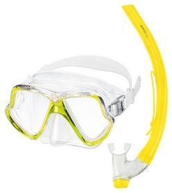 Набор для дайвинга (маска+трубка) Mares Zephir, желтый (411769/YL)