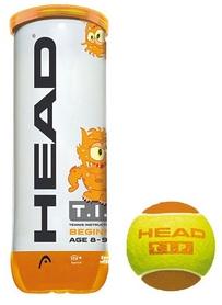 head Мячи для большого тенниса ТН Head 18 578113 3B Head Tip orange - 6DZ, 3 шт (72489781237)