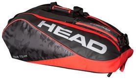 Сумка-чехол для теннисных ракеток Head Tour Team 9R Supercombi BKRD - черно-красная (283118)