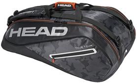 Сумка-чехол для теннисных ракеток Head Tour Team 9R Supercombi BKSI - черно-серая