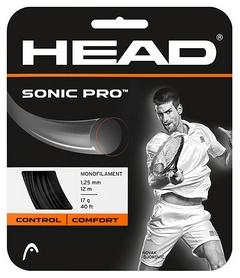 Струна теннисная для ракетки Head Sonic Pro 16 BK - черная (281028)