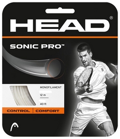 Струна теннисная для ракетки Head Sonic Pro 16 WH - белая