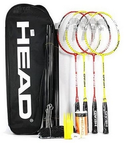 Набор для бадминтона (4 ракетки, 3 волана, сетка, стойки, разметка) Head Leisure Kit 4 Bm Set (9555722100282)