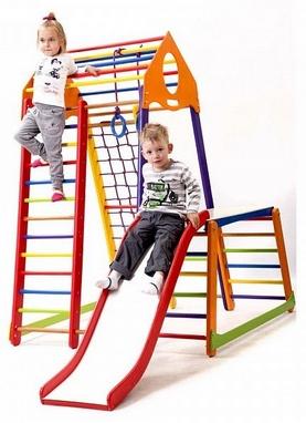 Комплекс спортивный детский SportBaby BambinoWood Color Plus 1-1