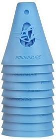 Конусы для слалома Powerslide Cones 908009/blue - голубые, 10 шт (4040333327166)