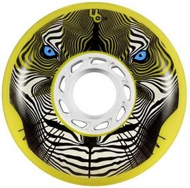 Колеса для роликов Powerslide Tiger (Bullet Radius) 406118/86 -  80mm/86a, желтые, 4 шт (4040333426777)